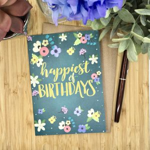 Happiest Of Birthdays Card - birthday cards