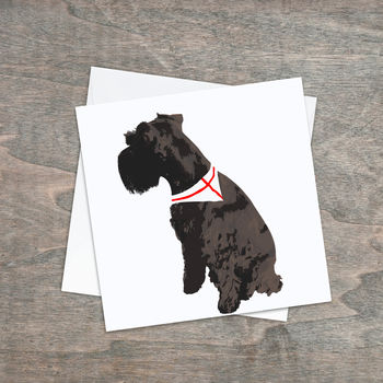Sitting Schnauzer Greeting Cards