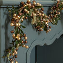 Copper Mistletoe Berry LED Chrismas Garland