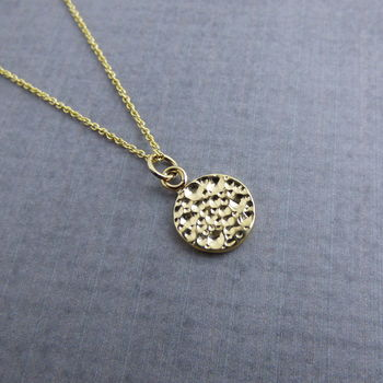 9ct Yellow Gold Moon Pendant
