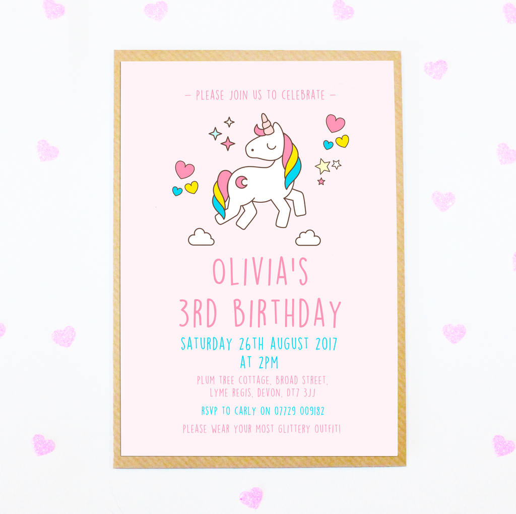 Kids and Childrens Party Invitations notonthehighstreetcom