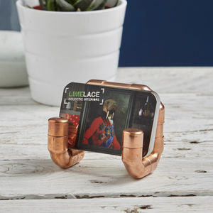Industrial Copper Pipe Business Card Holder - kitchen