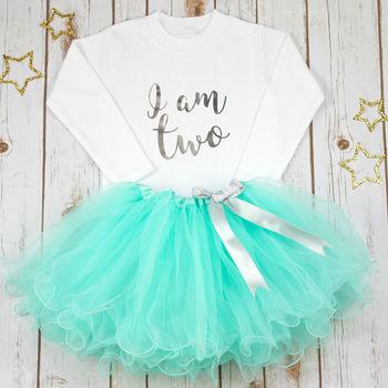 Second Birthday I Am Two Tutu Birthday Outfit