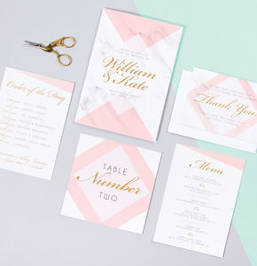 Table Plan, Numbers, Place Cards, Menus : Kensington - place cards