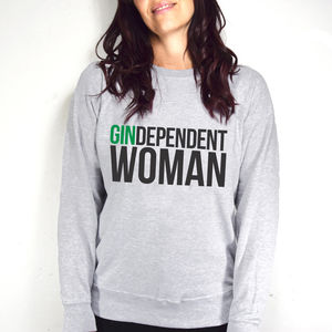 'Gindependent Woman' Women's Sweatshirt - women's fashion