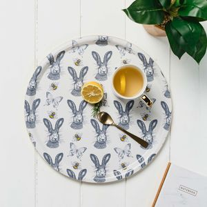 'Hares And Bees' Birchwood Serving Tray - tableware