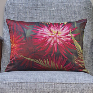 'Dahlia Urchin' Luxury Handmade Photo Cushion - patterned cushions