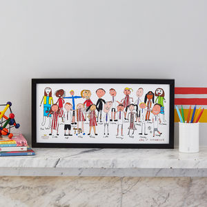 Personalised Class Portrait Print From Your Child's Art - posters & prints