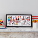 Personalised Class Portrait Print From Your Child's Art
