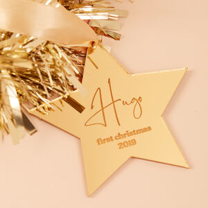 Baby's First Christmas Star Hanging Decoration