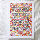 'Good Thoughts' Illustrated Typography Print