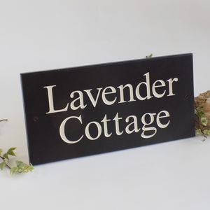 Personalised Slate House Sign - home