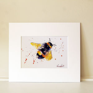 Bee Print, Mr Bumble - paintings