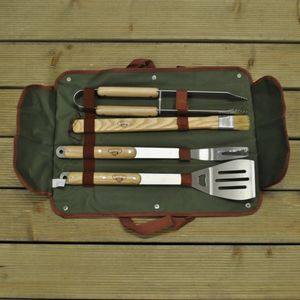 Delux Four Piece Barbecue Tool Set - picnics & barbecues