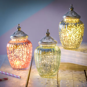 Sparkle LED Jar With Ornate Lid - lighting