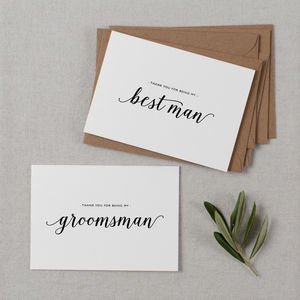 Best Man Or Usher Thank You Cards - wedding cards