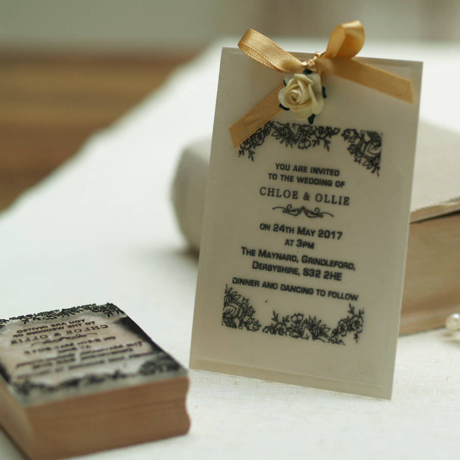 Stamps For Wedding Invitations: Personalised Wedding Invitation Stamp Lace Design By