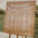 Large Personalised Wooden Table Plan