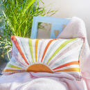 Personalised Hand Appliqued Sunshine Cushion