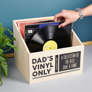 Personalised Vinyl Record Storage Box - office & study