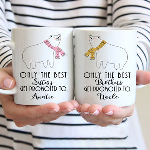 Personalised New Auntie And Uncle Mugs