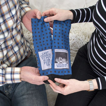 Personalised Daddy To Be Photo Socks