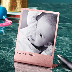 Personalised Solid Copper Polaroid Print - best father's day gifts