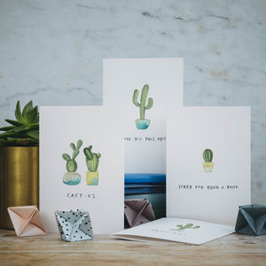 Cactus Greetings Cards Set