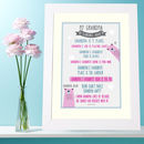 Personalised 'My Grandma'print