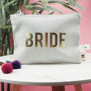 'Bride' Confetti Make Up Bag