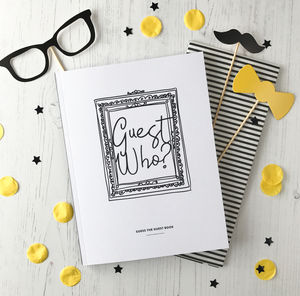 Guest Who? The Guess The Guest Book Game - hen party ideas