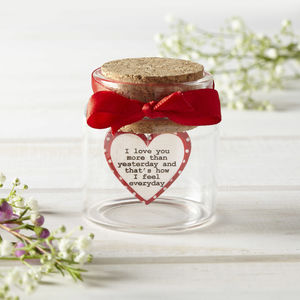 Personalised Love Message In Bottle