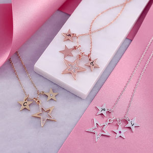 Diamante Star Charm Necklace - necklaces & pendants
