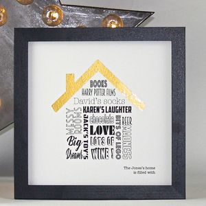Personalised 'This Home Is Filled With' Framed Print - family & home