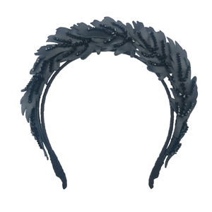 Crystal And Leather Feather Headdress