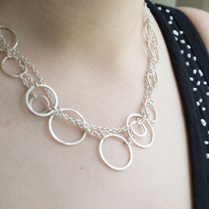 Handmade Silver Ring And Chain Necklace - necklaces & pendants
