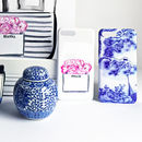 Antique Print Blue And White Phone Case