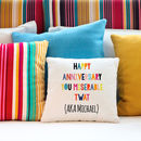 Personalised Sequin Reveal Cushion Colours Any Message