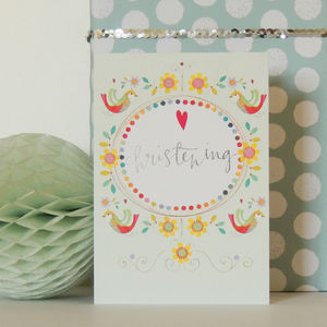 Christening Greetings Card