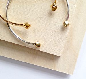 Faceted Gold And Silver Cuff Bangle - bracelets & bangles