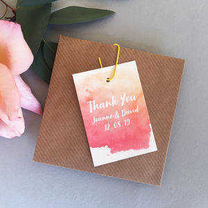 Watercolour Favour Tag - wedding favours