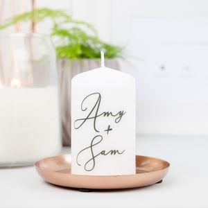Personalised Couple Love Candle