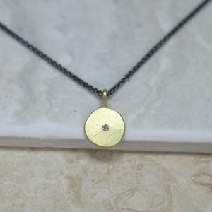 18ct Gold 'Sun And Star' Necklace - new in jewellery
