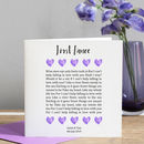 First Dance Lyrics Wedding Card