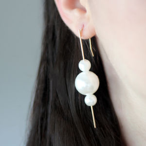 Pearl Earrings - statement jewellery
