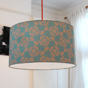 Large Vibrant Fabric Lampshade For The Home - dining room