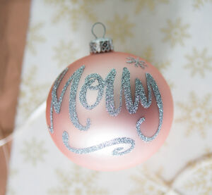 Hand Painted Glitter Personalised Name Bauble