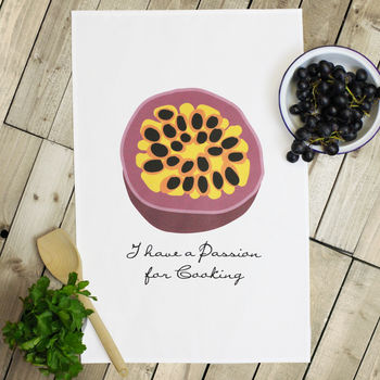 'Passion For Cooking' Tea Towel