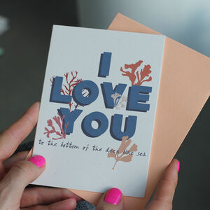 'I Love You' Eco Friendly Anniversary Card