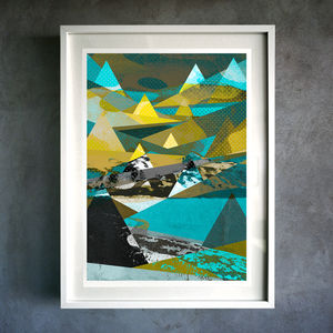 Abstract Mountain. Fine Art Giclée Print - nature & landscape